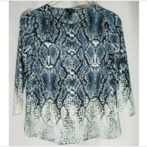The Limited XS blue/black snakeskin print shirt